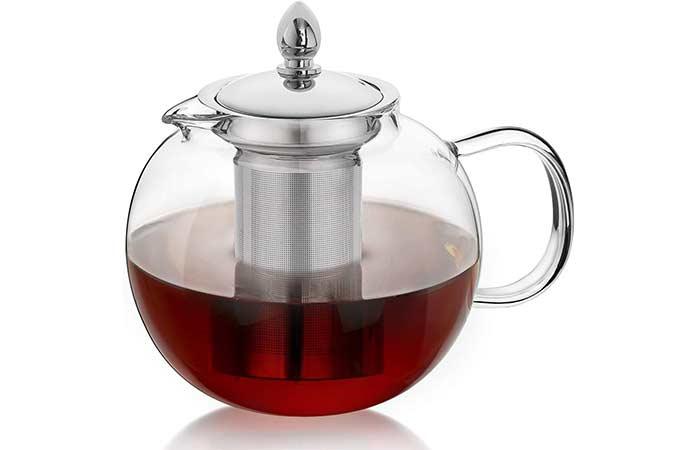 Hiware Large Glass Teapot