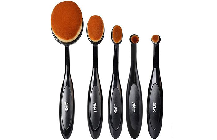 JPNK Oval Toothbrush Style Synthetic Powder Foundation Cream Makeup Brush