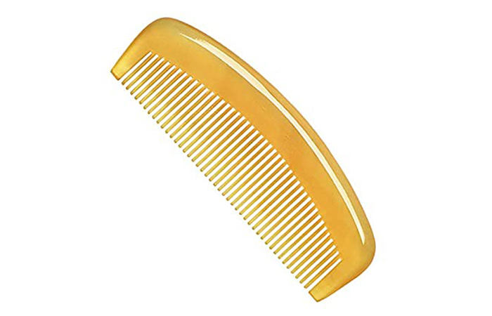 Liasun Handcrafted Anti-Static Natural Sheep Horn Comb