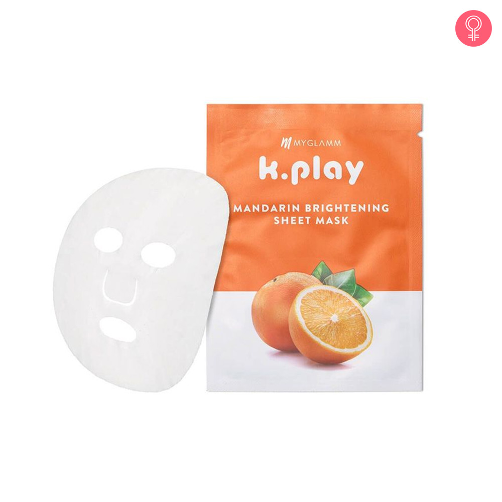 MyGlamm K.Play Mandarin Brightening Sheet Mask