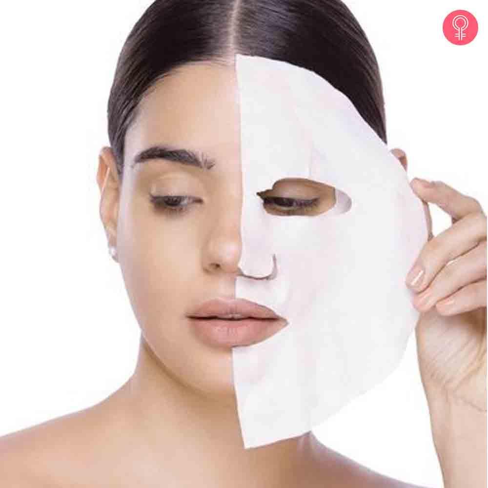 MyGlamm Glow Iridescent Brightening Sheet Mask Rosehip Extract Vitamin Elixir