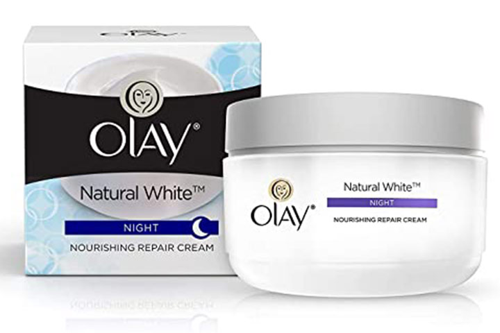 Olay Natural White 7 In One Night Nourishing Repair Cream