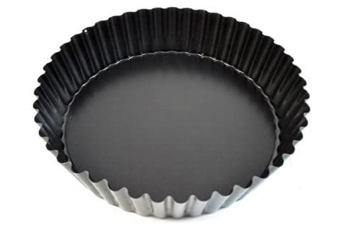 Paderno World Cuisine Deep Non-Stick Removable Base Tart Pan