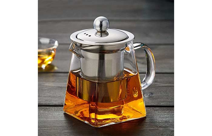 PluieSoleil Small Glass Teapot With Infuser