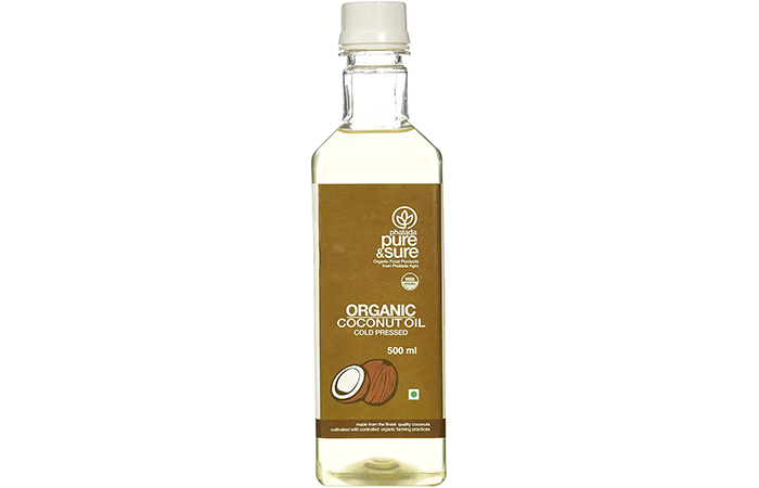 Pure and clean organic coconut oil