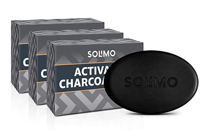 Solimo Activated Charcoal Soap