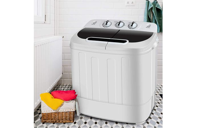 Super Deal Portable Mini Twin Tub Washing Machine