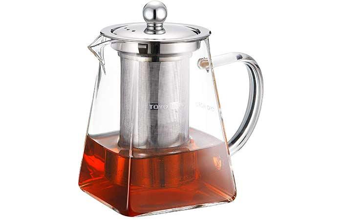 TOYO HOFU Tea Pot With Infusers For Loose Tea