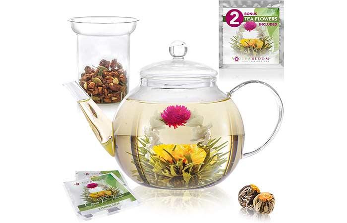 Teabloom Glass Teapot