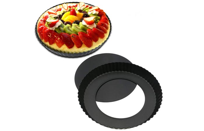 TedGem Non-Stick Removable Loose Bottom Tart Pan