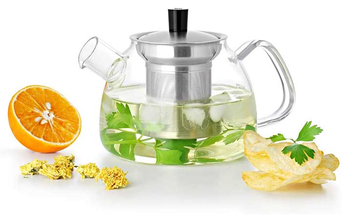 UMOGI Glass Teapot With Stainless Steel Filter Strainer