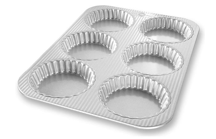 USA Pan Bakeware Aluminized Steel Mini Fluted Tart Pan