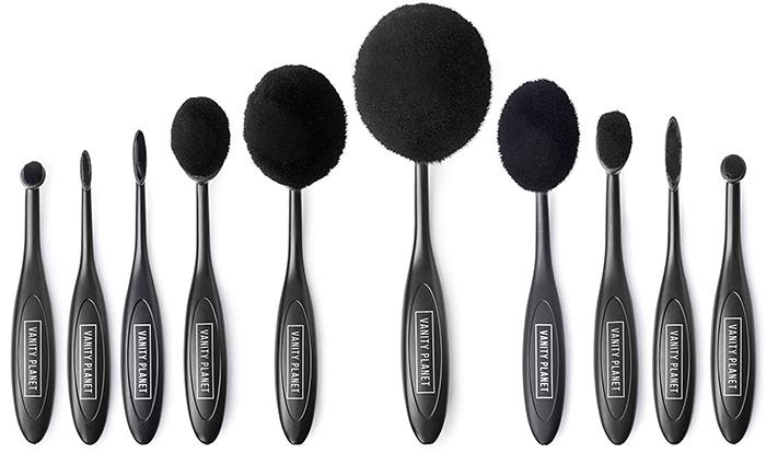 Vanity Planet Blend Party Oval Makeup Brush Kit