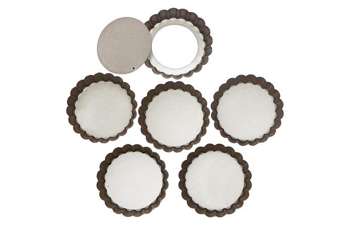 Webake 4-Inch Mini Tart Pan Set