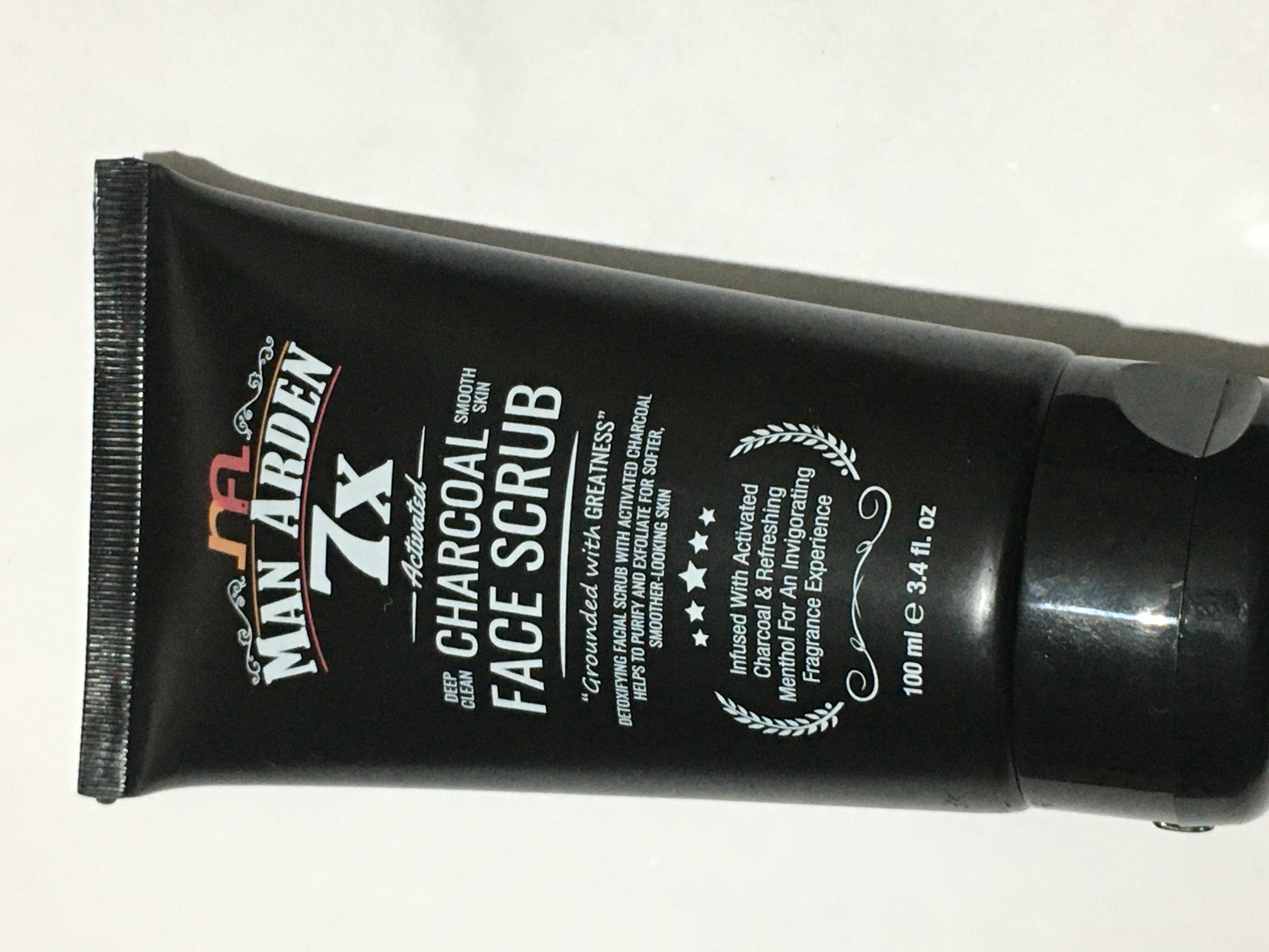 Man Arden 7X Activated Charcoal Face Scrub-Refreshing Scrub-By mehak07