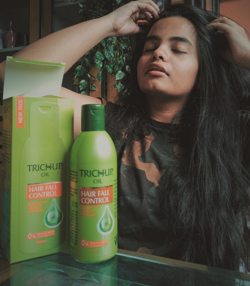 Trichup Hair Fall Control Hair Oil-Great for people struggling with hair fall-By shravika1