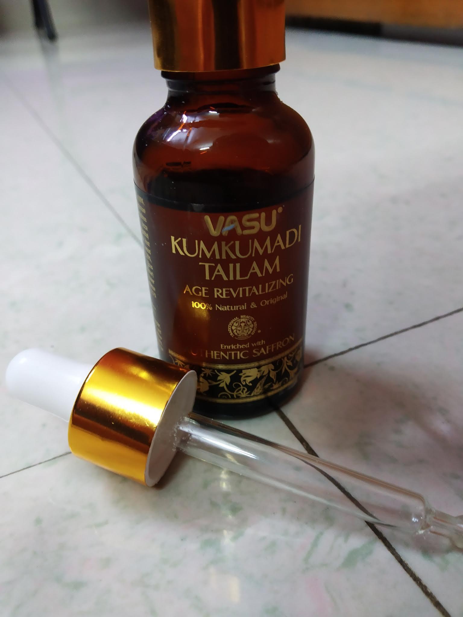 Vasu Age Revitalizing Kumkumadi Tailam-A great addition to the skin care routine-By nishthask