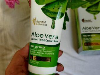 Oriental Botanics Aloe Vera, Green Tea & Cucumber Peel Off Mask -Good for removing dirt and deep clean your face-By thatgirlnupur