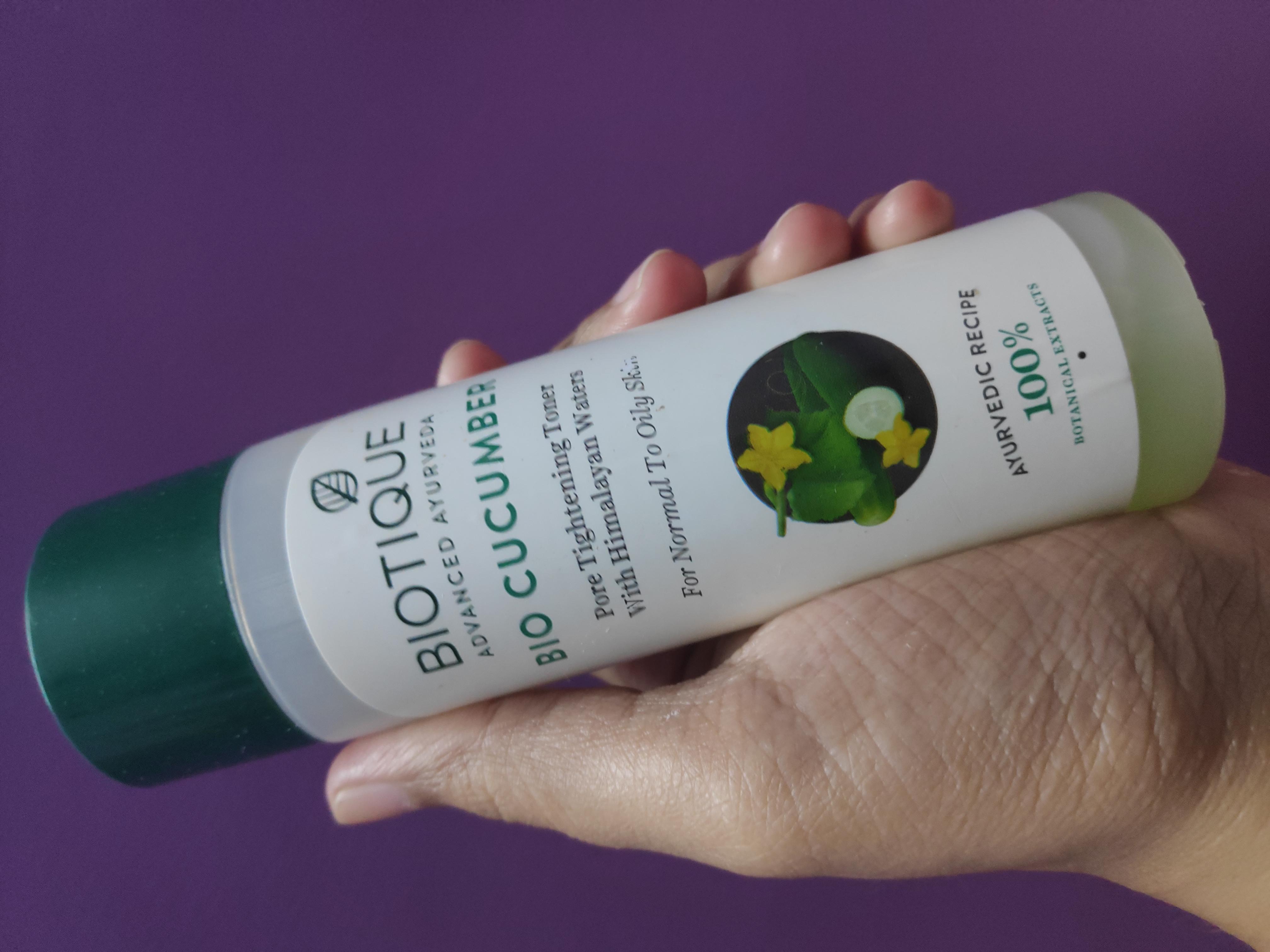 Biotique Bio Cucumber Pore Tightening Toner-Best toner available in the Market-By suparna_dey-1