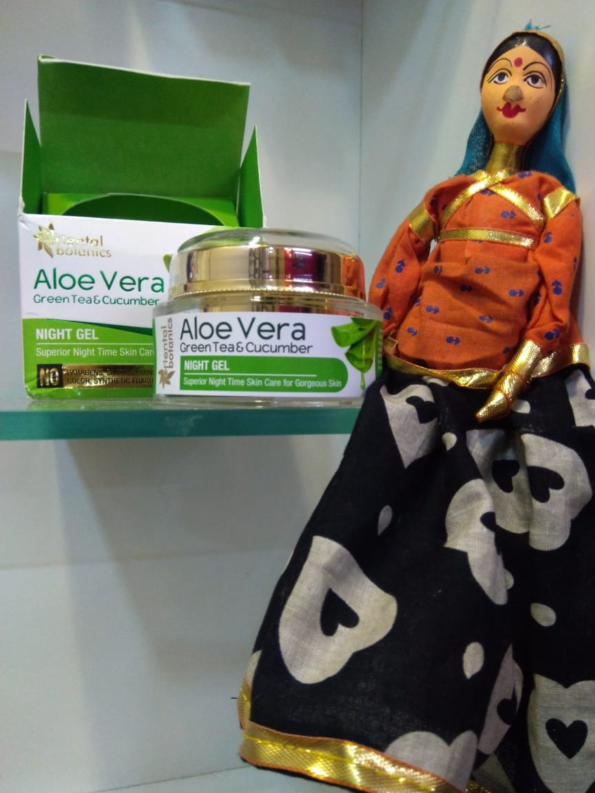 Oriental Botanics Aloe Vera, Green Tea & Cucumber Night Gel-Enriched with the Goodness of Aloe Vera-By khushboogargtorka-2