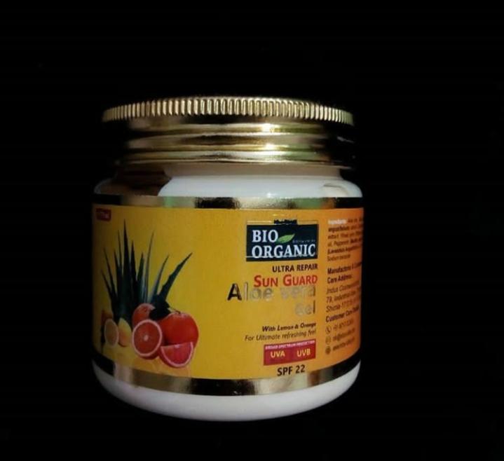 Indus Valley Bio Organic Sun Guard Aloe Vera Gel With Lemon & Orange-SPF 22-Love the Gel-By thatlucknowgirl-1