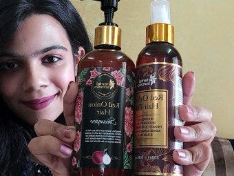 Oriental Botanics Onion Hair Care Combo   Red Onion Hair Shampoo + Red Onion Hair Oil -Great combo-By ishiitashinde