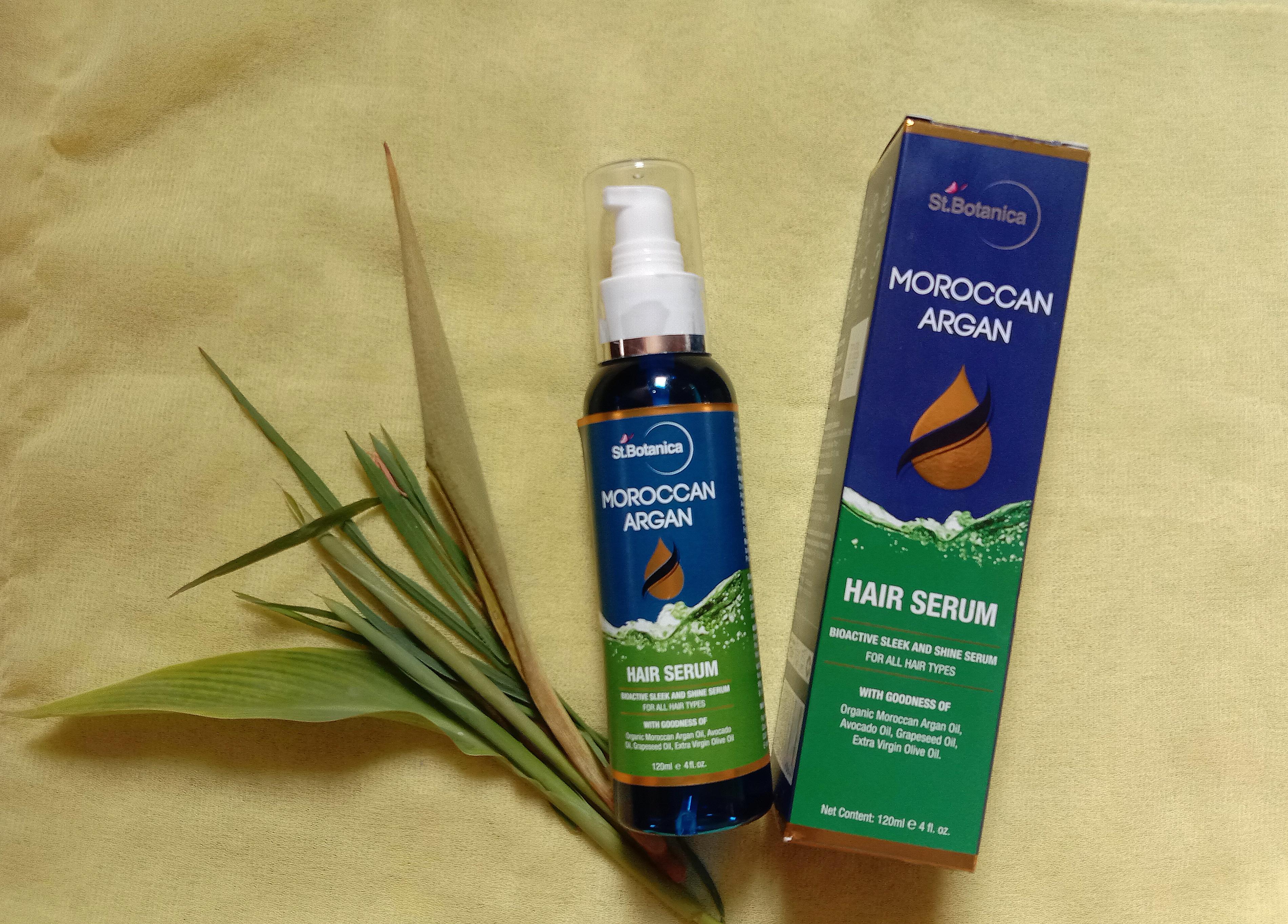 St.Botanica Moroccan Argan Hair Serum -Smoothens hair and makes them shiny-By sanskriti_shahji