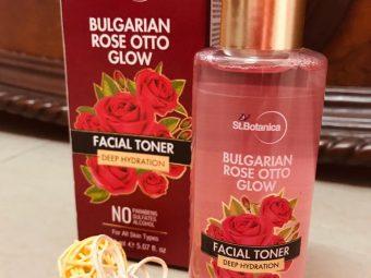 StBotanica Bulgarian Rose Otto Glow Deep Hydration Facial Toner -Rose Otto Glow Toner-By mizbha378