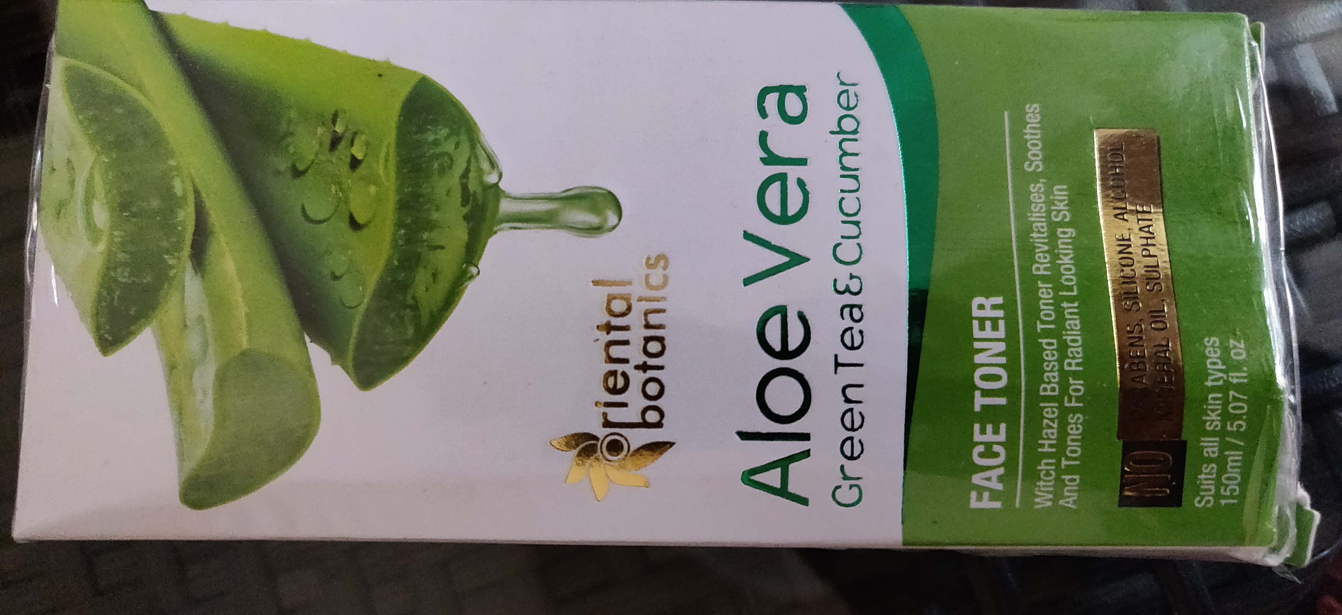 Oriental Botanics Aloe Vera Green Tea & Cucumber Sunscreen SPF 50-A Great Natural Face Toner-By riya_agrawal-2
