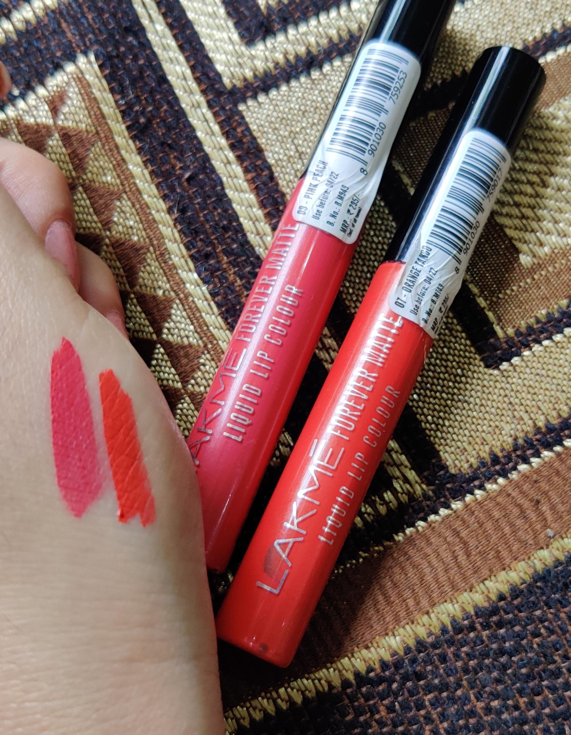 Lakme Forever Matte Liquid Lip Colour -AFFORDABLE MATTE LIPISTICS-By shruti_beautyblogger
