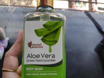 Oriental Botanics Aloe Vera Green Tea & Cucumber Body Wash pic 2-Better Than any Other Body Wash-By Samidha_Mathur