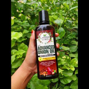 Luxura Sciences Advanced Onion Oil 250 ml pic 1-Liquidy runny oil-By sri._.reviwer