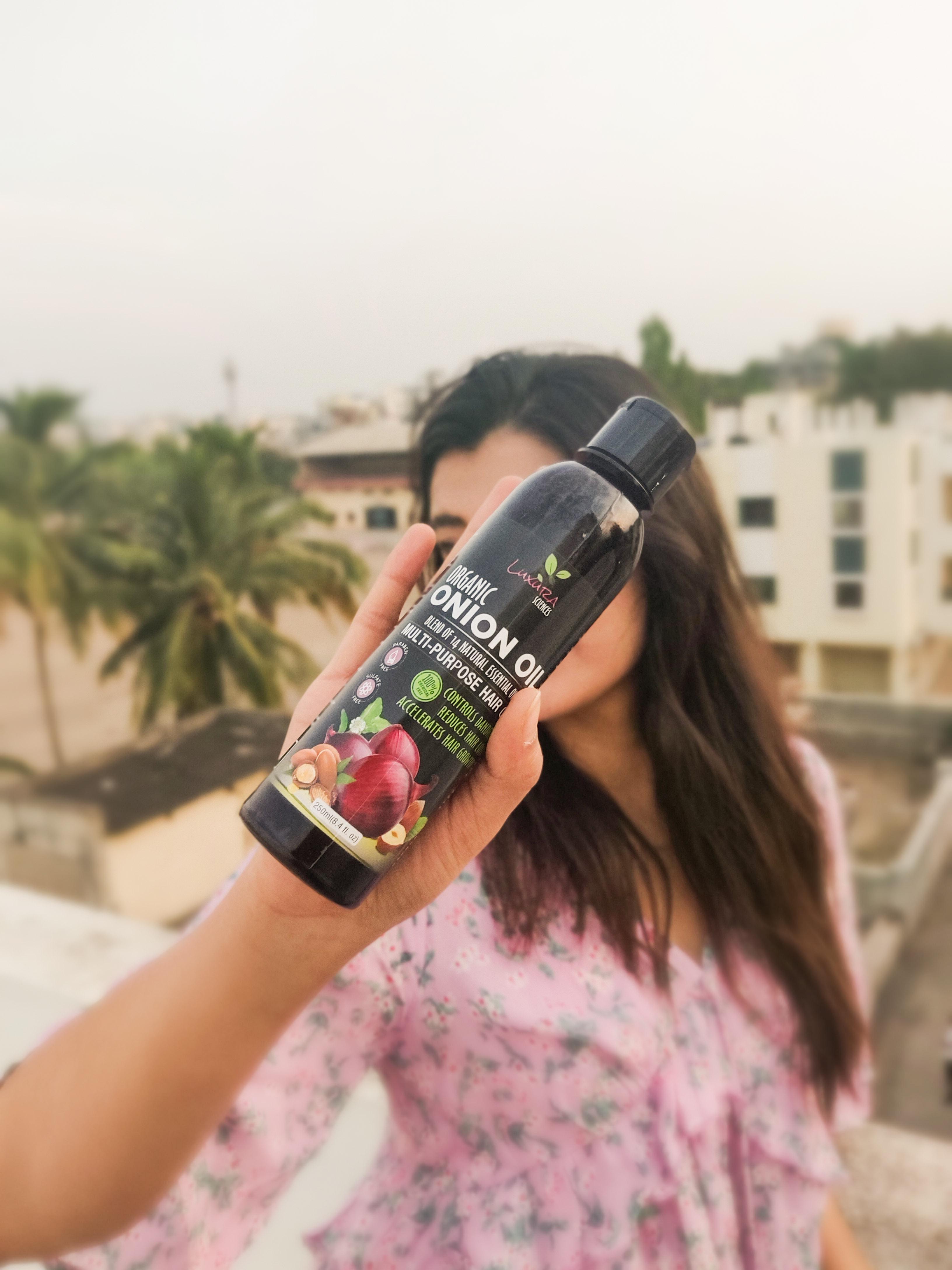 Luxura Sciences Onion Hair Oil 250 ml-Beautifully Blended for Every Hair Type!!-By shrutibhandari3