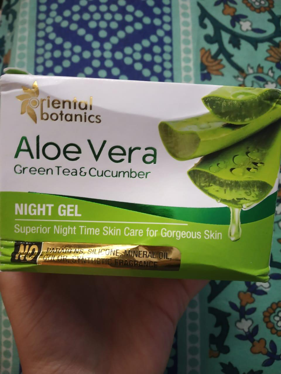 Oriental Botanics Aloe Vera, Green Tea & Cucumber Night Gel-My Favourite aloe vera gel-By swatchifyme-1