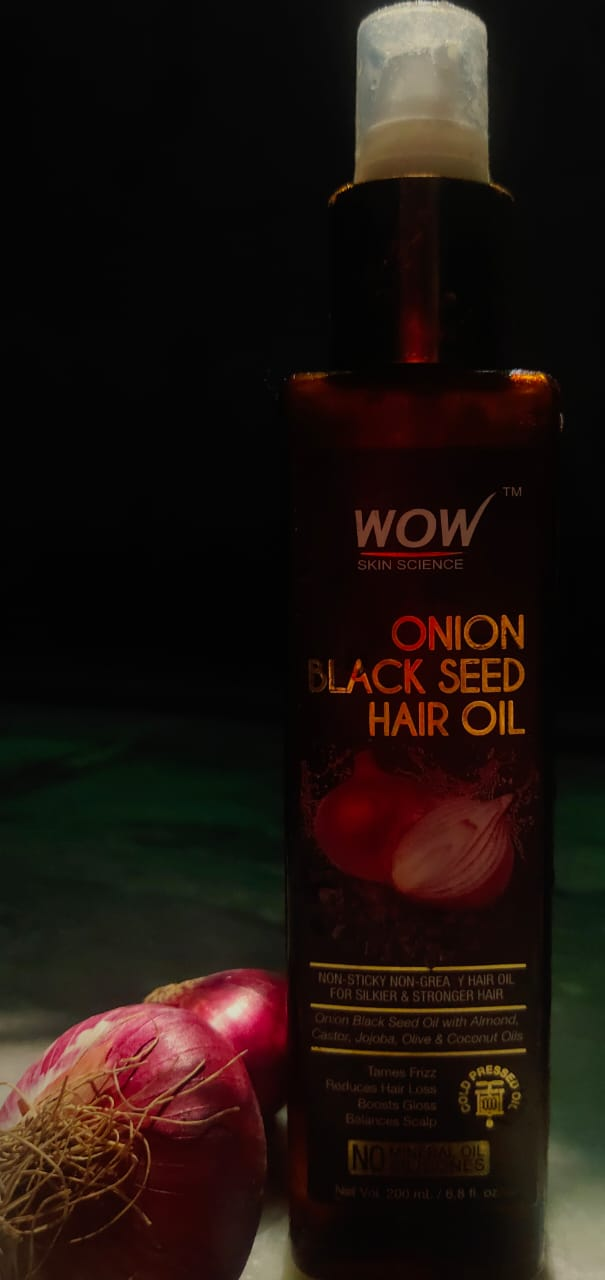 WOW Skin Science Onion Black Seed Hair Oil-Optimize Hair Growth Cycle-By saloni_gera