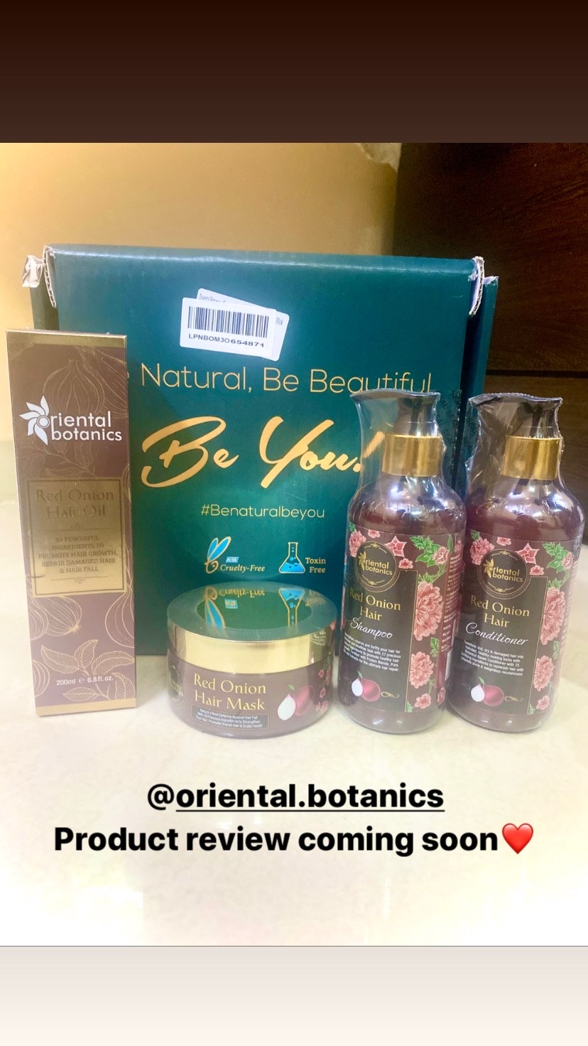 Oriental Botanics Red Onion Hair Shampoo Conditioner Oil Mask-Amazing Haircare Kit-By aish_tanna