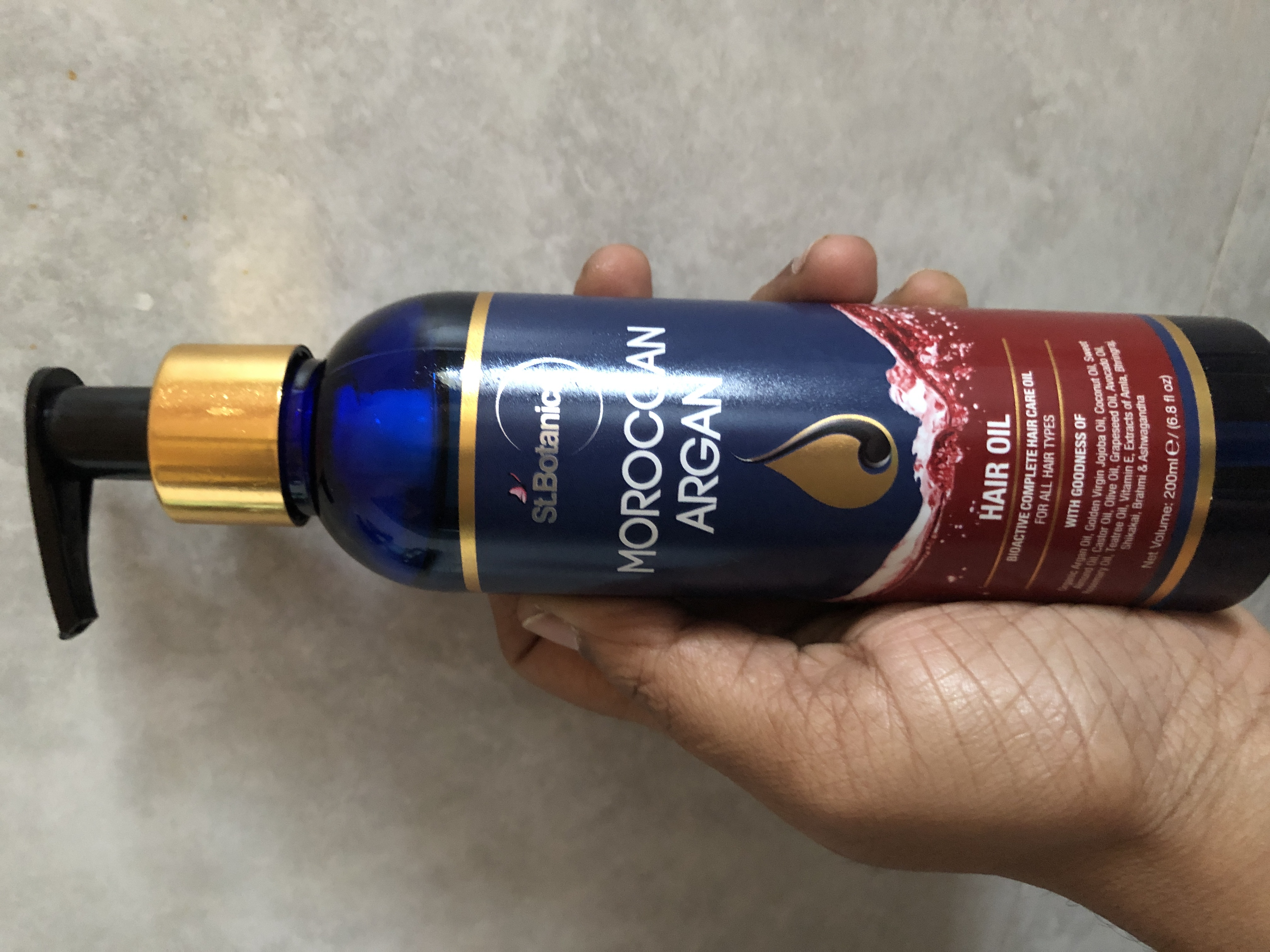 St.Botanica Moroccan Argan Hair Growth Oil-Best oil for natural hair growth-By rsairajeswari