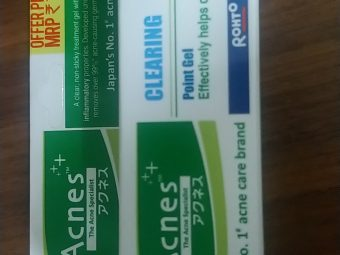 Acnes Clearing Point Anti-Pimple Gel pic 2-My Daily Essential-By trunwal