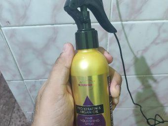 St.Botanica Pro Keratin & Argan Oil Hair Nourishing Spray pic 2-Straighten Hair in a Moment-By anurag_verma