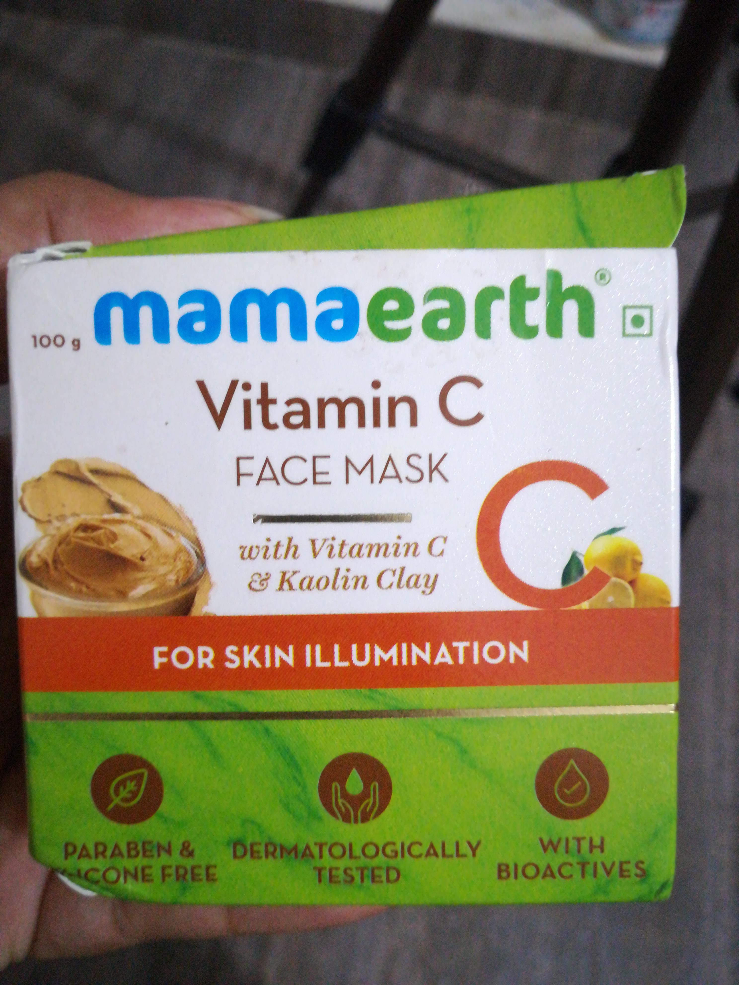 Mamaearth Vitamin C Face Mask-Vitamin c facepack-By vaishnavi11