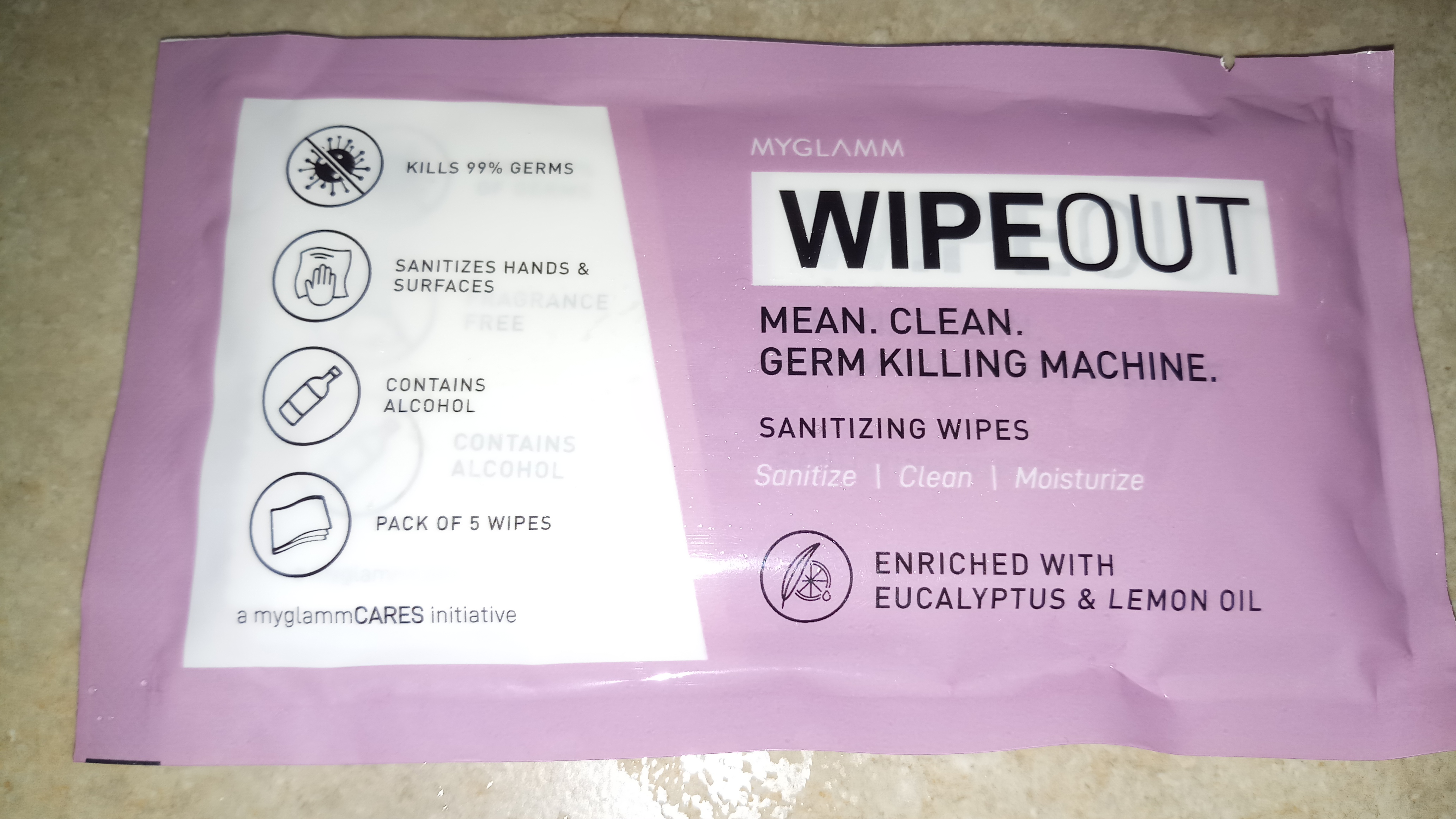 MyGlamm Wipeout Sanitizing Wipes-Amazing product!-By tina240995