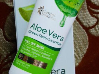 Oriental Botanics Aloe Vera, Green Tea & Cucumber Peel Off Mask pic 2-Amazing peel of mask-By siddiqa_shaikh