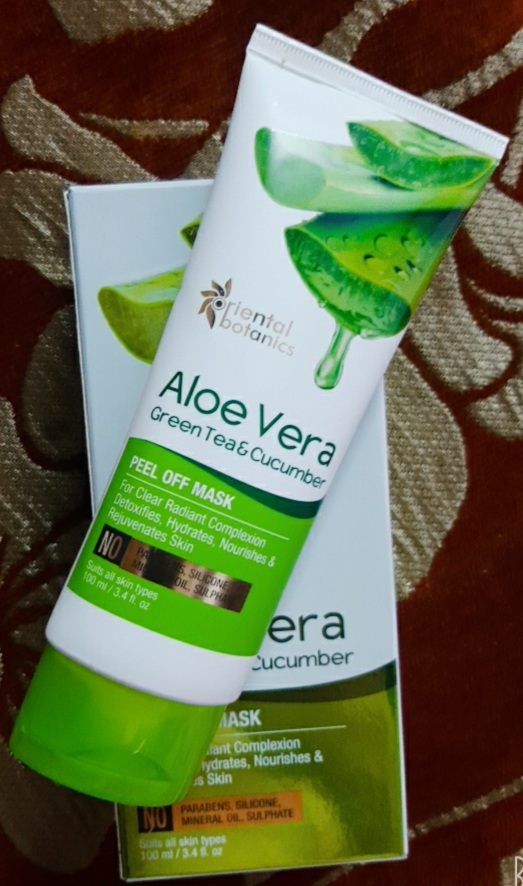 Oriental Botanics Aloe Vera, Green Tea & Cucumber Peel Off Mask-Amazing peel of mask-By siddiqa_shaikh-2