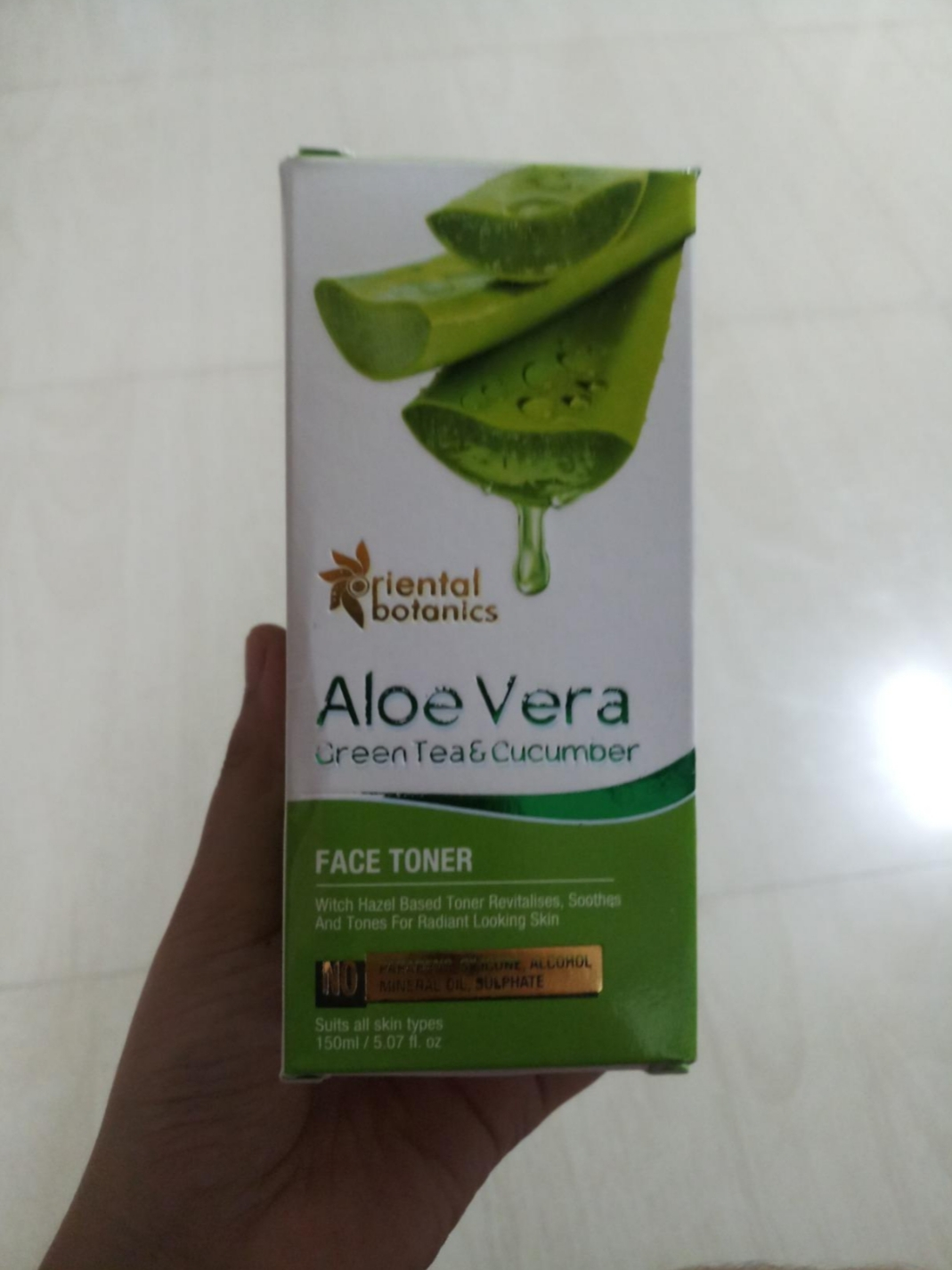 Oriental Botanics Aloe Vera, Green Tea & Cucumber Face Toner pic 2-Best Ever Toner-By ketki_lembhe