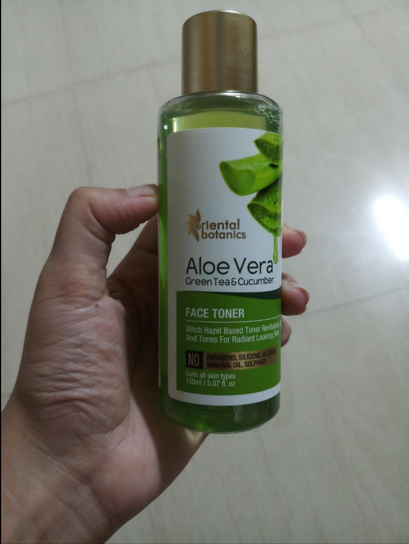 Oriental Botanics Aloe Vera, Green Tea & Cucumber Face Toner pic 1-Best Ever Toner-By ketki_lembhe