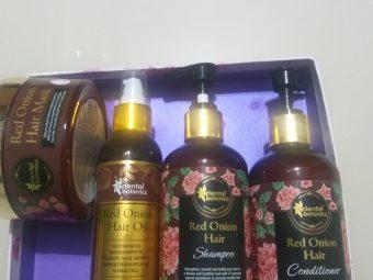 Oriental Botanics Red Onion Hair Shampoo Conditioner Oil Mask pic 2-Spa at home-By mayura_jain