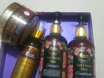 Oriental Botanics Red Onion Hair Shampoo Conditioner Oil Mask pic 1-Spa at home-By mayura_jain