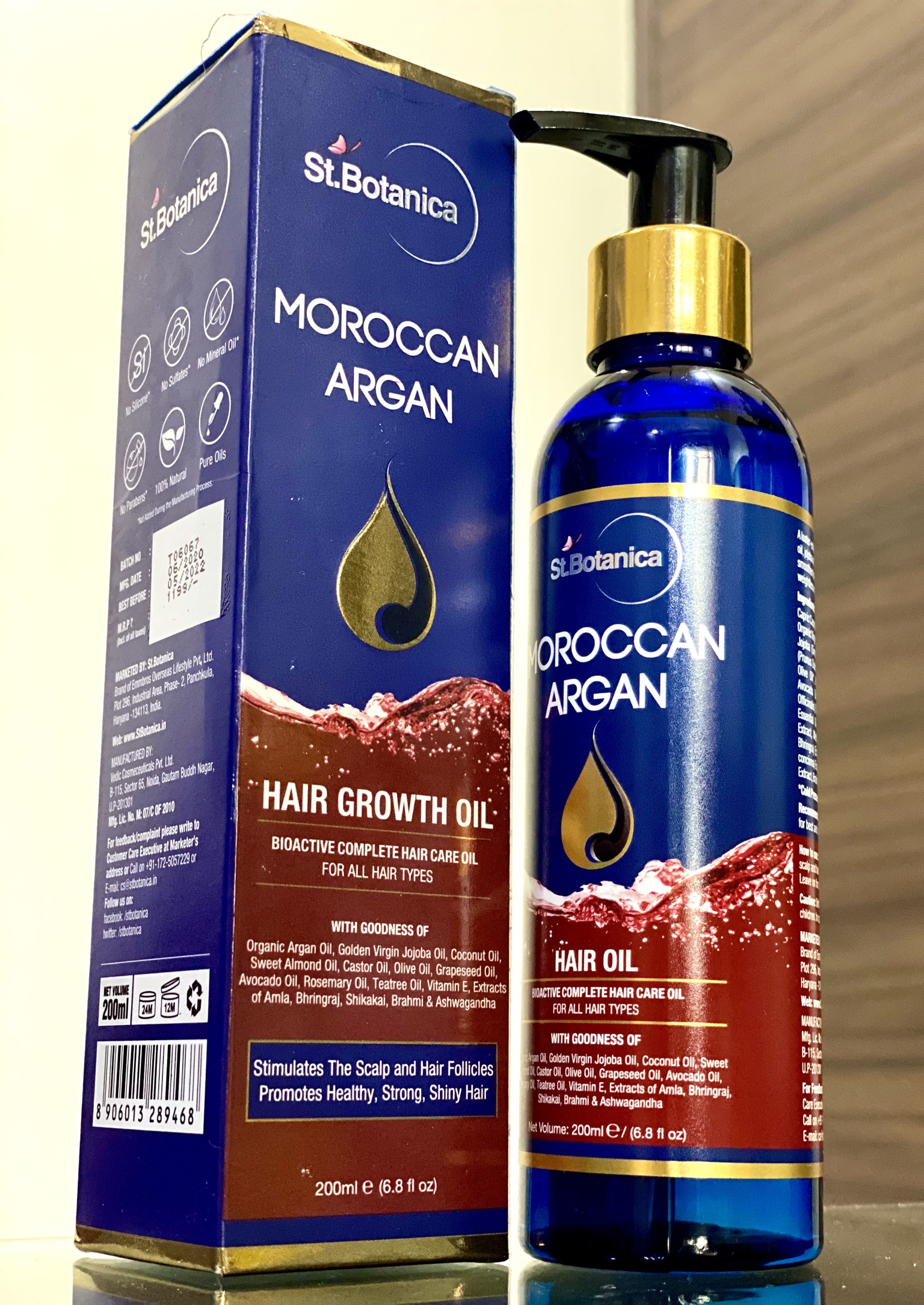 St.Botanica Moroccan Argan Hair Growth Oil-AMAZING HAIR OIL-By yogita_parmar