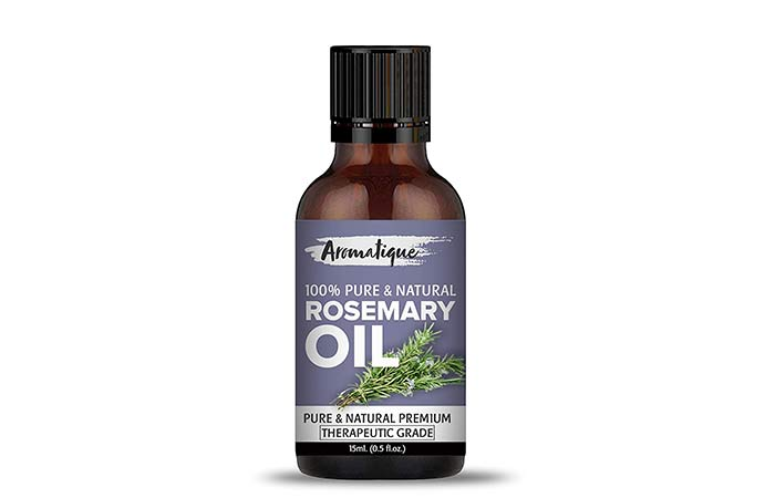 Aromatique Rosemary Essential Oil For Hair Growth,Skin and Body 100% Pure and Natural Therapeutic Grade