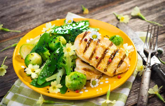 Chicken Breast With Brussel Sprouts